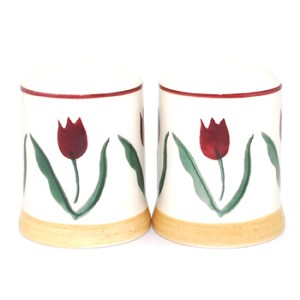 Red Tulip Salt & Pepper Shakers