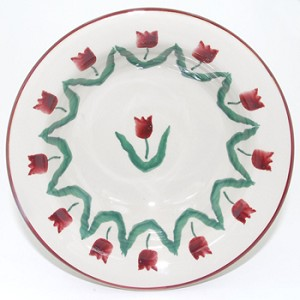 Red Tulip Cereal Bowl