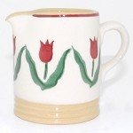 Red Tulip Tiny Cylinder Jug