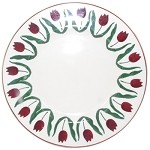 Red Tulip Lunch Plate Edge