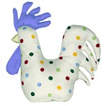 Polka Dot Chicken Door Stop