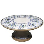 Forget Me Not Footed Cake Plate 9""