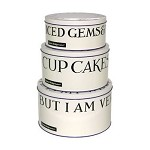 Black Toast & Marmalade Cake Tins - Set of Three