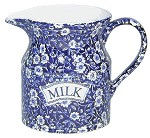 Blue Calico Milk Jug