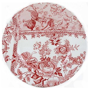 Engravers Pink Accent Lunch Plate  Collectable