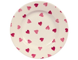 Bridgewater Pink Hearts Lunch Plate