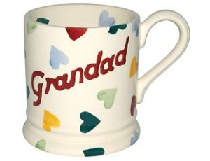 Polka Heart  GRANDAD 1/2 Pint Mug  RETIRED