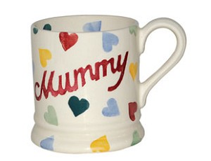 "Polka Heart ""MUMMY"" 1/2 Pint Mug"