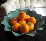 R Wood Scalloped Large Bowl