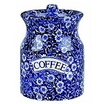 Blue Calico Coffee Canister Retired