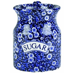 Blue Calico Sugar Canister