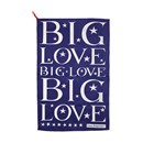 Big Love Tea Towel BLUE