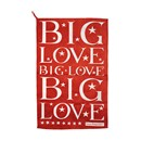 Big Love Tea Towel RED