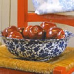 Blue Arden Fruit Bowl Retired