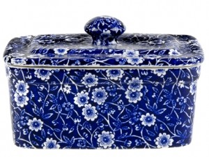 Blue Calico Butter Box