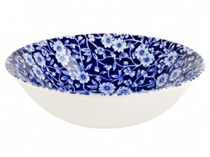 Blue Calico Cereal Bowl