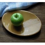 R Wood Butter Plate