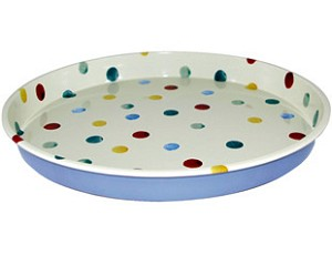 Polka Dot Tin Tray