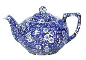 Blue Calico Large Teapot
