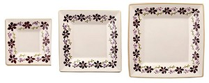 Clematis Large Square Plate