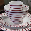 Gmundner Vertigo Flame Red Place Setting