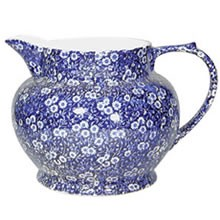 Blue Calico Dutch Flower Jug