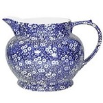 Blue Calico Dutch Flower Jug Retired