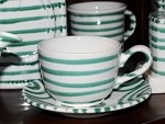 Vertigo Flame Green Classic Cup  and  Saucer 6.4 oz
