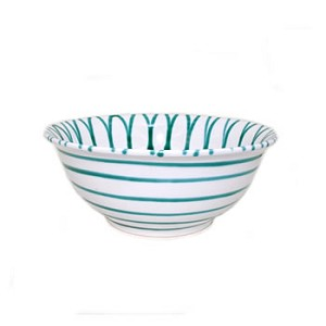 Vertigo Flame Green Classic Salad Bowl