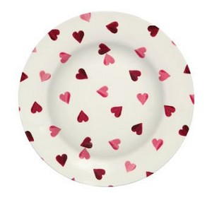 Pink Hearts Melamine Plate-RETIRED
