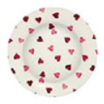 Pink Hearts Melamine Plate