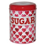 Hearts Sugar Tin