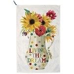 Polka Dot Living the Dream Tea Towel