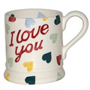 "Polka Heart ""I LOVE YOU"" 1/2 Pint Mug    RETIRED"