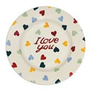 "Polka Heart ""I LOVE YOU"" Lunch Plate    RETIRED"