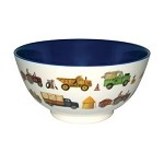 Men At Work Melamine Bowl