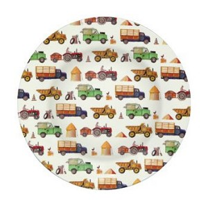 Men At Work Melamine Plate