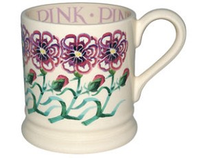 NGS Pink Flower 1/2 Pint Mug