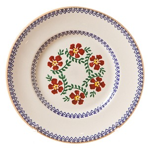 Old Rose Lunch Plate