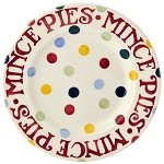 "Polka Dot Mince Pies 8.5"" Plate"