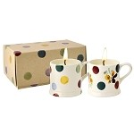 Polka Dot Set of 2 Filled Mini Mugs Boxed