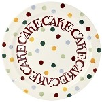 Polka Dot Text Cake Plate
