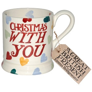 Polka Hearts Christmas With You 1/2 Pint Mug