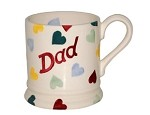Polka Heart DAD 1/2 Pint Mug  RETIRED