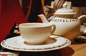 Pichon Large Cup & Saucer, Cream