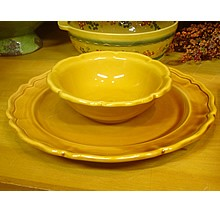 Pichon Provence Dinner Plate - Gold