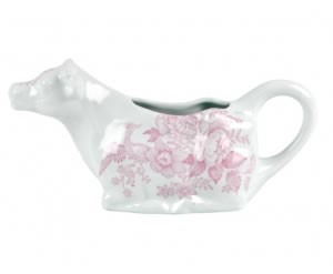 Pink Asiatic Pheasant Cow Creamer Boxed