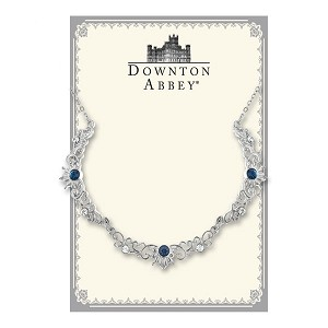 Downton Abbey® Sapphire Crystal Silver Scallop Necklace