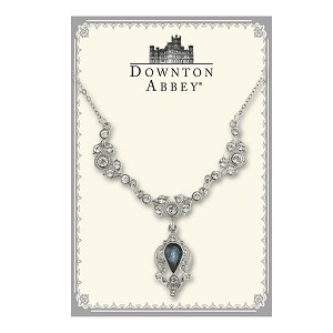 Downton Abbey® Montana Blue Jewel Silver Drop Necklace