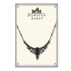 Downton Abbey® Hematite Grey Crystal Statement Necklace